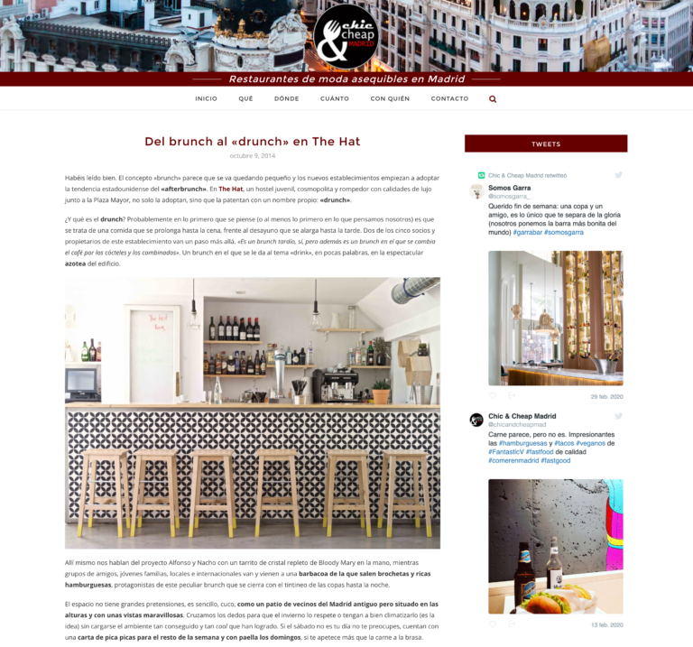 The Hat, hostel de lujo con deliciosa terraza en Madrid - Chic and Ch_ - www.chicandcheapmadrid.com